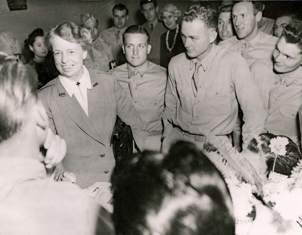 eleanor roosevelt tours the south pacific during world war ii picture